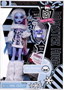 Monster High Deluxe Doll Abbey Bominable with Pet Shiver [Doll Stand & Diary]
