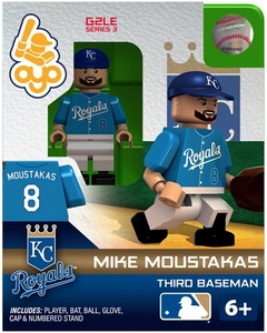 OYO Baseball MLB Generation 2 Building Brick Minifigure Mike Moustakas [Kansas City Royals]