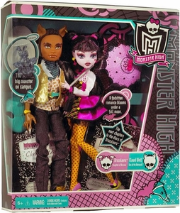 Monster High Doll 2-Pack Gift Set Draculaura & Clawd Wolf