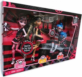 Monster High Ghoul Spirit Exclusive Doll 3-Pack Draculaura, Cleo de Nile & Ghoulia Yelps