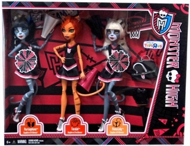 Monster High Fearleading Exclusive Doll 3-Pack Purrsephone, Toralei & Meowlody
