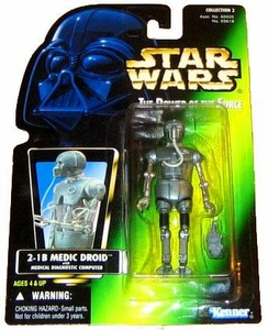 Star Wars Power of the Force Green Card Hologram Action Figure 2-1B Medical Droid