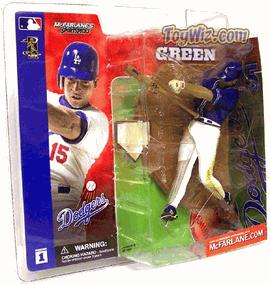 McFarlane Toys MLB Sports Picks Series 1 Action Figure Shawn Green (Los Angeles Dodgers) Blue Jersey Variant