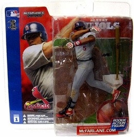 McFarlane Toys MLB Sports Picks Series 1 Action Figure Albert Pujols (St. Louis Cardinals) Gray Jersey BLOWOUT SALE!