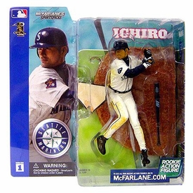 McFarlane Toys MLB Sports Picks Series 1 Action Figure Ichiro Suzuki (Seattle Mariners) White Jersey Dirty Variant