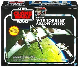 Star Wars 2012 Vintage Class II Attack Vehicle V-19 Torrent Starfighter