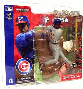 McFarlane Toys MLB Sports Picks Series 1 Action Figure Sammy Sosa (Chicago Cubs) Gray Jersey Variant