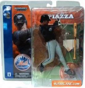 McFarlane Toys MLB Sports Picks Series 1 Action Figure Mike Piazza (New York Mets) Black Jersey