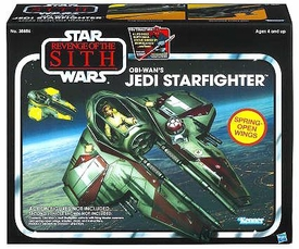 Star Wars 2012 Vintage Class II Attack Vehicle Obi Wan's Jedi Starfighter