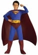 Superman Returns Movie Kids Costume Jumpsuit with Attached Boot Tops & Cape #882301CHILD LARGE SIZE BLOWOUT SALE!
