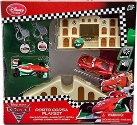 Disney / Pixar CARS 2 Movie Exclusive Key Charger Porto Corsa Playset