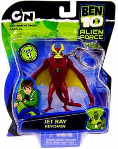 Ben 10 Alien Force Series 1 Keychain Jet Ray