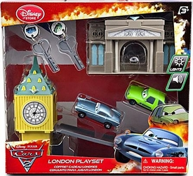 Disney / Pixar CARS 2 Movie Exclusive Key Charger London Playset