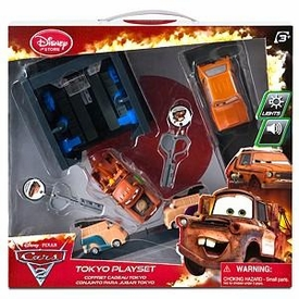 Disney / Pixar CARS 2 Movie Exclusive Key Charger Tokyo Playset
