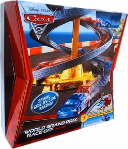 Disney / Pixar CARS 2 Movie Track Set World Grand Prix Race-Off [Includes Raoul Caroule]