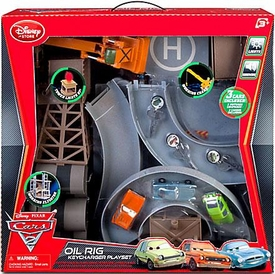 Disney / Pixar CARS 2 Movie Exclusive Oil Rig Key Charger Playset