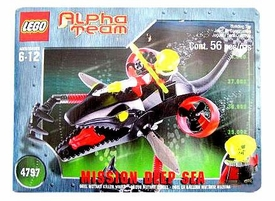 LEGO Alpha Team Set #4797 Mission Deep Sea Ogel Mutant Killer Whale