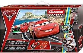 Disney / Pixar CARS 2 Movie Exclusive Carrera Go!!! Race Around The World 1:43 Scale Slot Racing System [Lightning McQueen vs Francesco Bernoulli]