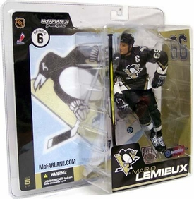 McFarlane Toys NHL Sports Picks Series 6 Action Figure Mario Lemieux (Pittsburgh Penguins)Black Jersey Variant with Downward Facing Triangle