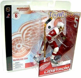 McFarlane Toys NHL Sports Picks Series 6 Action Figure Nicklas Lidstrom (Detroit Red Wings) White Jersey