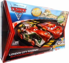 Disney / Pixar CARS 2 Movie Slot-Car Racing Set London City Raceway