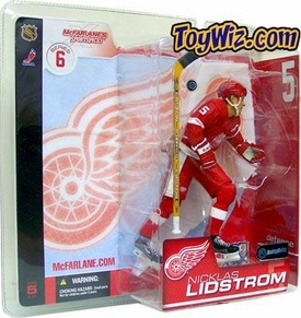 McFarlane Toys NHL Sports Picks Series 6 Action Figure Nicklas Lidstrom (Detroit Red Wings) Red Jersey Variant