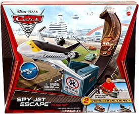Disney / Pixar CARS 2 Movie Track Set Spy Jet Escape