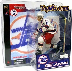 McFarlane Toys NHL Sports Picks Series 6 Action Figure Teemu Selanne (Winnepeg Jets) White Jersey Variant