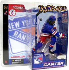 McFarlane Toys NHL Sports Picks Series 6 Action Figure Anson Carter (New York Rangers) Blue Jersey Variant
