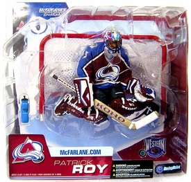 McFarlane Toys NHL Sports Picks Series 6 Action Figure Patrick Roy (Colorado Avalanche) Maroon Jersey with Blue Shoulders Variant