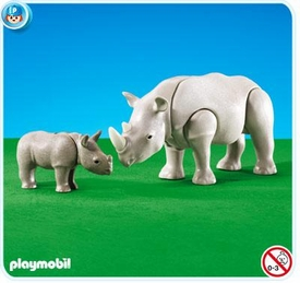 Playmobil Zoo Set #7989 Rhino with Calf