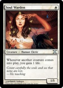 Magic the Gathering Tenth Edition Single Card Uncommon #44 Soul Warden