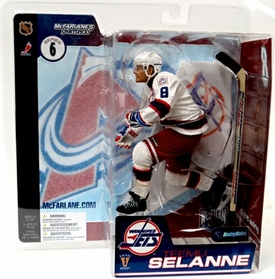 McFarlane Toys NHL Sports Picks Series 6 Action Figure Teemu Selanne (Colorado Avalanche) White Jersey & Red Pants Variant