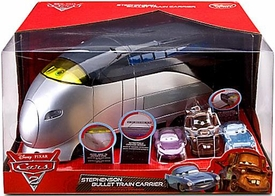 Disney / Pixar CARS 2 Exclusive Stephenson Bullet Train Carrier [Includes Mater, Finn McMissile & Holley Shiftwell]