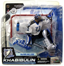 McFarlane Toys NHL Sports Picks Series 6 Action Figure Nikolai Khabibulin (Tampa Bay Lightning) White Jersey Variant [Yellowed Blister]