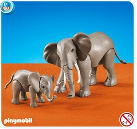 Playmobil Zoo Set #7995 1 Large and 1 Small Elephant