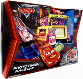 Disney / Pixar CARS 2 Movie Track Set Photo Finish Raceway