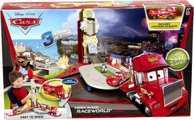 Disney / Pixar CARS 2 Movie Mega Mack Raceworld Playset