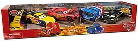 Disney / Pixar CARS Movie Exclusive 4-Pack Porta Corsa Launching Set [Gorvette, McQueen, Caroule & Hamilton]