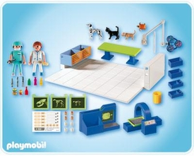 Playmobil Zoo Animal Clinic Set #4346 Vet Operating Room