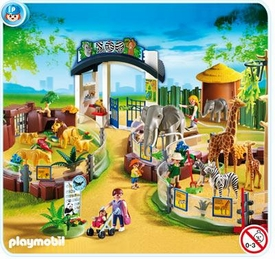 Playmobil Zoo Set #4850 Large Zoo with Entrance