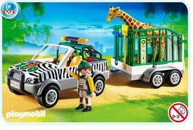 Playmobil Zoo Set #4855 Zoo Vehicle with Trailer