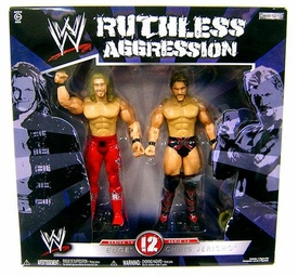 WWE Jakks Pacific Wrestling Ruthless Aggression Series 12 Action Figure 2-Pack Edge Vs. Chris Jericho