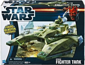 Star Wars 2012 Class II Attack Vehicle Republic Fighter Tank [Green]