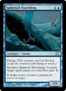 Magic the Gathering Tenth Edition Single Card Uncommon #111 Spiketail Hatchling