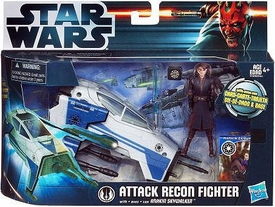 Star Wars 2012 Clone Wars Vehicle & Action Figure Attack Recon Fighter with Anakin Skywalker