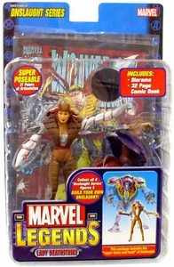 Marvel Legends Series 13 Action Figure Lady Deathstrike [Onslaught Build-A-Figure] BLOWOUT SALE!