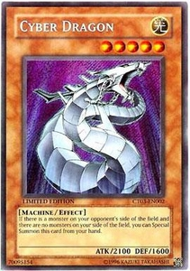 YuGiOh 2006 Collectible Tin Promo Single Card Secret Rare CT03-EN002 Cyber Dragon