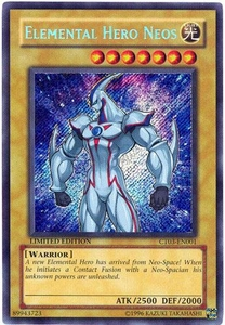 YuGiOh 2006 Collectible Tin Promo Single Card Secret Rare CT03-EN001 Elemental Hero Neos