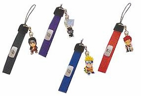 Naruto BanPresto Set of 4 PVC Cell Phone Danglers [Naruto, Kakashi, Itachi & Gaara]